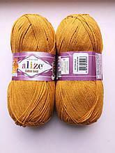 Пряжа для вязания Alize Cotton Gold Ализе Коттон Голд  цвет 02 шафран