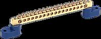 """Шина N """"нуль"""" на двох кутових ізол СТАЙНІ-6х9-18-У2-C IEK"""