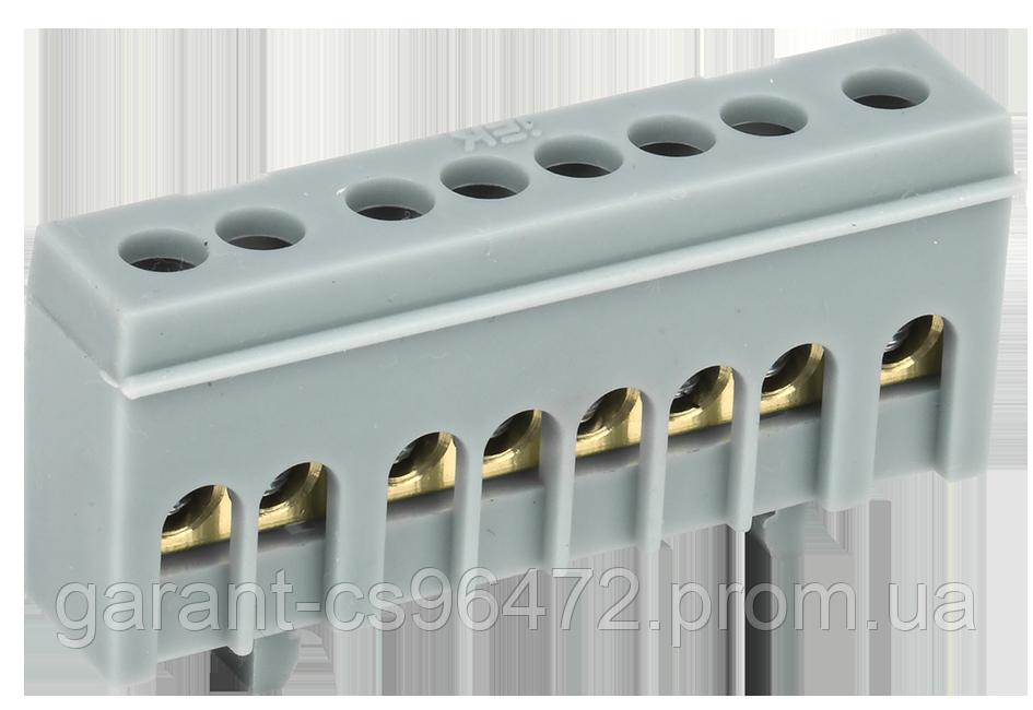 """Шина L """"фаза"""" в корп ізол на DIN-рейку ШНИ-6х9- 8-К-Ср IEK"""