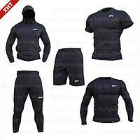 """Компрессионная одежда комплект 5 в 1 UFC (ЮФС) для тренировок Черный Пакистан """"В СТИЛЕ"""""""