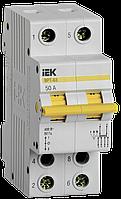 Вимикач-роз'єм єднувач трипозиційний ДРТ-63 2P 50А IEK