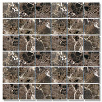 Мраморная мозаика МКР-3С (старенная/валтованная) 48*48*6 Dark Mix
