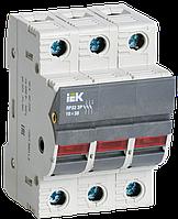 Запобіжник-роз'єм єднувач з індик. ПР32 3P 10х38 32А IEK