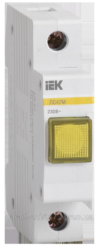 Сигнальна лампа ЛС-47М (жовта) (матриця) IEK