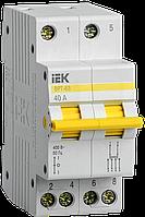 Вимикач-роз'єм єднувач трипозиційний ДРТ-63 2P 40А IEK