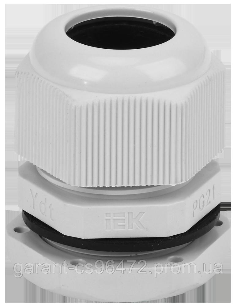 Сальник PG 21 діаметр провідника 15-18мм IP54 IEK