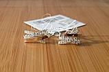 """Серебряные серьги """"Луиза""""с накладками золота, фото 3"""