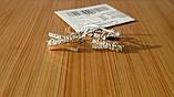 """Серебряные серьги """"Луиза""""с накладками золота, фото 5"""