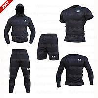 """Компрессионная одежда комплект 5 в 1 BAD BOY (Бед Бой) для тренировок Черный Пакистан """"В СТИЛЕ"""""""