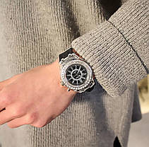 Часы женские силиконовый ремешок два цвета, фото 2