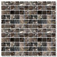 Мраморная мозаика МКР-2С (старенная/валтованная)  23*23*6 Dark Mix