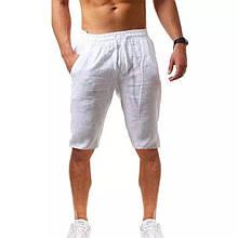 Мужские бриджи, лён, р-р 46-48; 50-52 (белый)