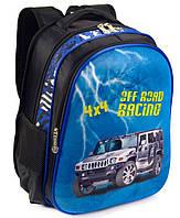 Школьный рюкзак ранец ортопедический для мальчиков 1, 2, 3 класс Портфель полу каркасный для школы Машина 4х4