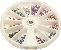 Стразы-прямоугольники разноцветные большие камни YRE KMK-09, дизайн ногтей стразами