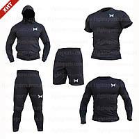 """Компрессионная одежда комплект 5 в 1 TAPOUT для тренировок Черный Пакистан """"В СТИЛЕ"""""""
