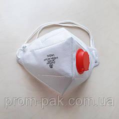 Респиратор FFP2 з клапаном Титан 2К, для защиты дыхательных путей, медицинский.