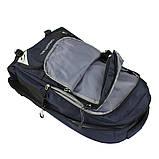 Рюкзак туристический походный текстиль темно синий, 80 л, фото 4