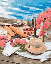 Пикник рядом с морем 40*50см Brushme Картина по номерам