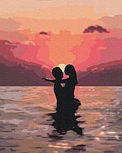 Влюбленные на закате 40*50см Brushme Картина по номерам День Св Валентина