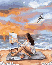Море вдохновения 40*50см Brushme Картина по номерам Художница