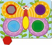 Пазл сортер бабочка DoDo 300288,вкладыши dodo 300288