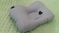 Ортопедическая подушка для новорожденных Бабочка, Сердечки