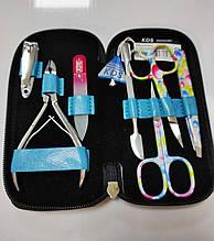 Маникюрный набор 7 предметов педикюрный для маникюра чехле Набір манік'юрний Маникюрный набор KDS 8105