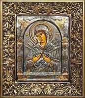 Писаные иконы. Семистрельная икона Божьей Матери (2 вариант)