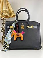 Женская сумка Гермес Биркин 35 см золото (реплика)