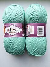 Пряжа для вязания Alize Cotton Gold Ализе Коттон Голд  цвет 15 мятный