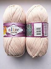 Пряжа для вязания Alize Cotton Gold Ализе Коттон Голд  цвет 382 телесный