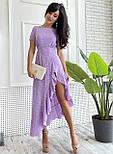 Платье женское в горошек с рюшей (в расцветках), фото 9