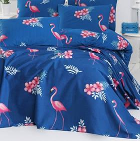 Покрывало пике Lotus Home Perfect - Flamingo голубой 200*235