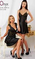 Сорочка черная шелковая Komilfo Onyx, Украина , фото 1