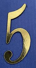 """Топер из ламинированного картона """"Цифра 5"""""""