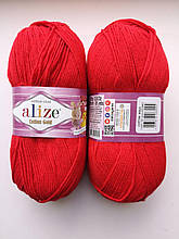 Пряжа для вязания Alize Cotton Gold Ализе Коттон Голд  цвет 56 красный