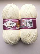 Пряжа для вязания Alize Cotton Gold Ализе Коттон Голд  цвет 62 молочный