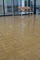 Кирпич стандартный 200х100, цвет коричневый, красный, персиковый, горчичный, черный на сером цементе 40мм