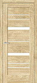 Двери межкомнатные ОмиС Рино 02 стекло сатин Эко шпон Natural Look (NL), NL дуб Саванна, 800
