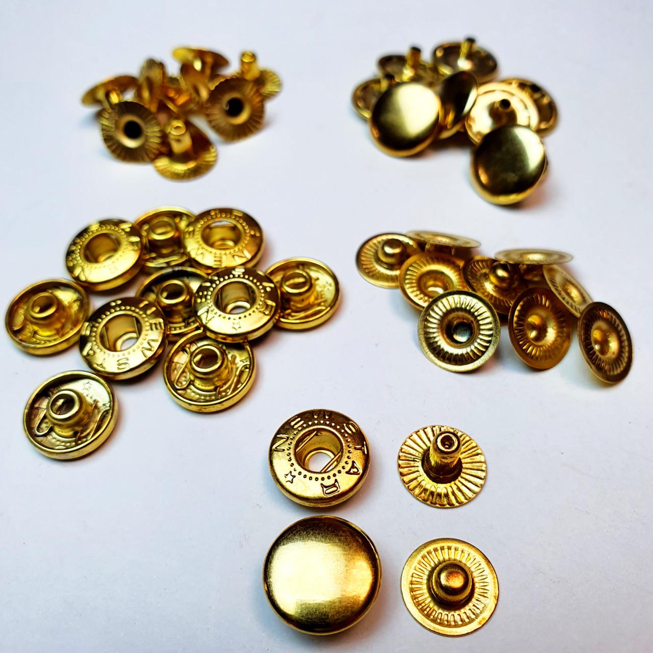 Кнопки для рубашек Альфа 12.5мм. Золото Кнопка рубашечная №54, ( 10 шт )
