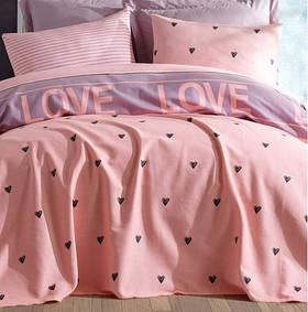 Покрывало пике Lotus Home Perfect - Love you лиловый 200*235