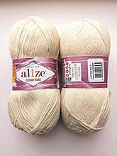 Пряжа для вязания Alize Cotton Gold Ализе Коттон Голд  цвет 67 кремовый