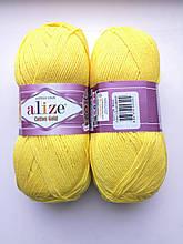 Пряжа для вязания Alize Cotton Gold Ализе Коттон Голд  цвет 110 желтый