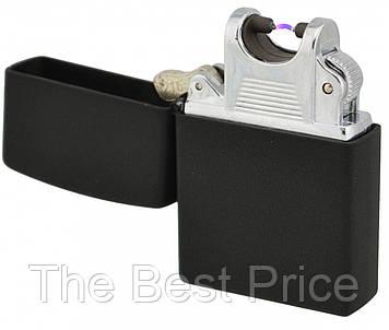 USB електрична запальничка імпульсна Jinlun 215 Black (4284)