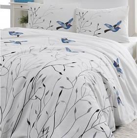 Покрывало пике Lotus Home Perfect - Birds голубой 160*235