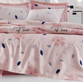 Покрывало пике Lotus Home Perfect - Flowers розовый 160*235