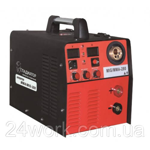 Полуавтомат  инверторного типа Гладиатор MIG/MMA 280