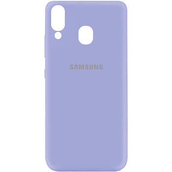 Чехол Silicone Cover My Color Full Protective (A) для Samsung Galaxy A40 (A405F) Сиреневый / Dasheen
