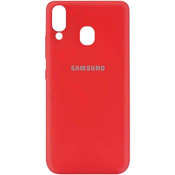 Чехол Silicone Cover My Color Full Protective (A) для Samsung Galaxy A40 (A405F) Красный / Red