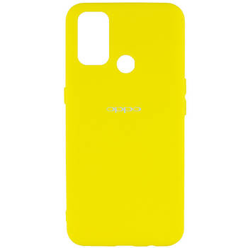 Чехол Silicone Cover My Color Full Protective (A) для Oppo A53 / A32 / A33 Желтый / Flash